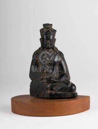 Himalayan Art A wooden figure of Padmasambhava Tibet, 18th -