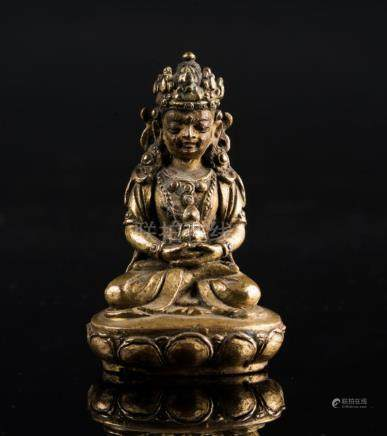 Himalayan Art A small bronze figure of Amitayus Tibet, 18th