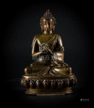 Chinese Art A bronze figure of Vairocana Nepal, 19th century