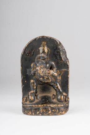 Himalayan Art A small stone figure of Jambhala Tibet, 16th-1