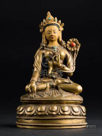 Himalayan Art A bronze figure of Green Tara Tibet, early 19t
