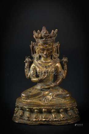 Himalayan Art A gilt copper alloy figure of Prajnaparamita T