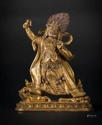 Himalayan Art A gilt bronze figure of Achala Sino/Tibet, ear