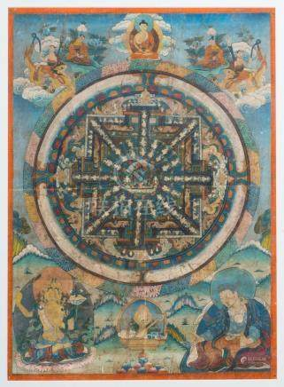 Himalayan Art A thangka depicting a mandala dedicated to Sam