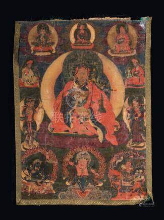 Himalayan Art A thangka depicting Padmasambhava Bhutan, 18th