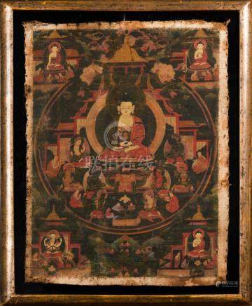Himalayan Art A thangka depicting Amitabha Tibet, 18th centu
