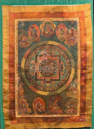 Himalayan Art A thangka depicting the Mandala of Mahakala Ti