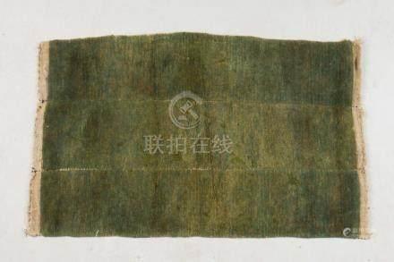 Himalayan Art A monocrhome green Tibetan Tsu-Truk carpet