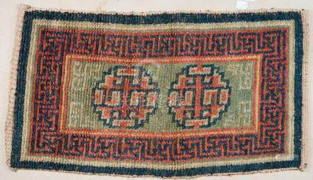 Himalayan Art A wangdeng Tibetan carpet decorated with geome