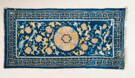Chinese Art A Chinese Ningxia carpet decorated with floral m