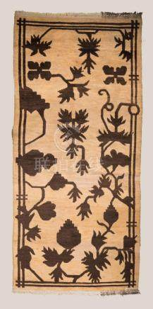 Himalayan Art A Tibetan runner carpet decorated with flowers