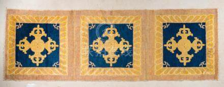 Chinese Art A Ningxia Carpet decorated with three vajras Chi
