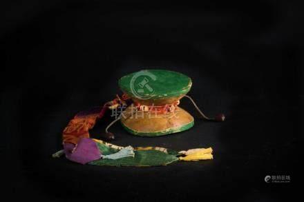 Himalayan Art A ritual drum (damaru) composed of double kapa