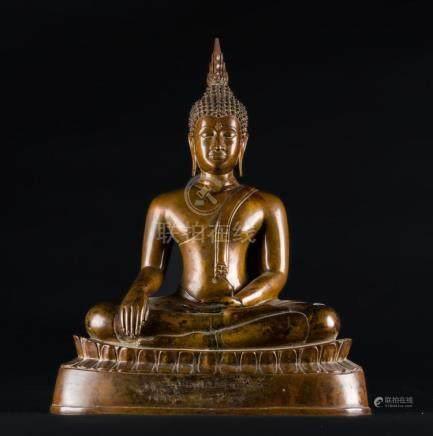 South-Est Asian Art A bronze sculpture of Buddha Thailandia,