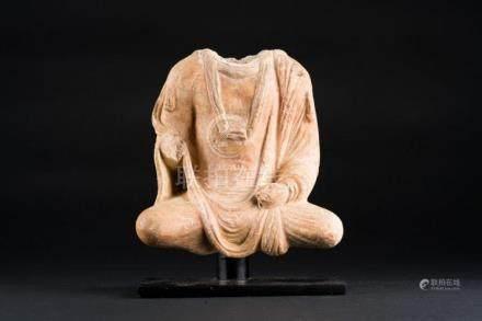 Himalayan Art A plaster sculpture of headless Buddha Nowaday
