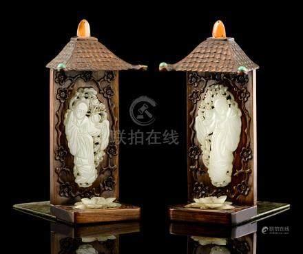 Dutiful Chinese Jade Mirror Art