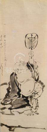 FOUR PAINTINGS OF VARIOUS ARTISTS, Japan, Edo/Meiji period,  1. AFTER KANÔ TAN'YÛ: a sketch depictin