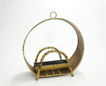 竹編拱形花器
