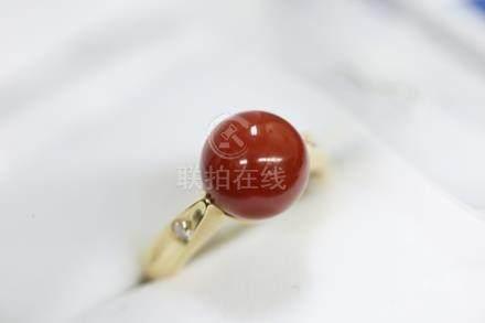 珊瑚球型戒指