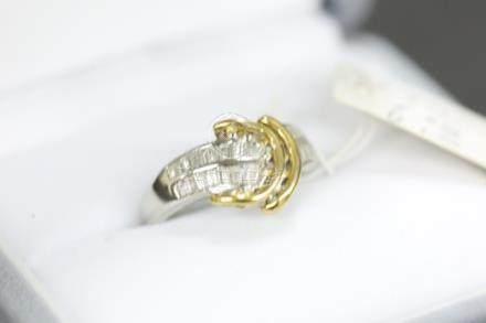 K18/Pt900鑲鑽石戒指