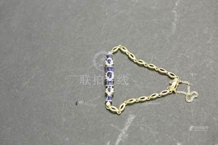750藍寶石鑲鑽手鏈 12.0g