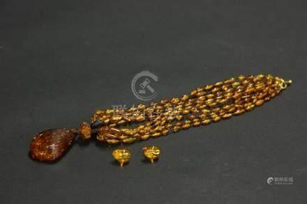 琥珀項鏈吊墜
