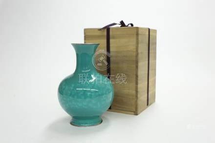七寶翡翠玉釉花瓶