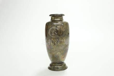 銀製虎紋瓶