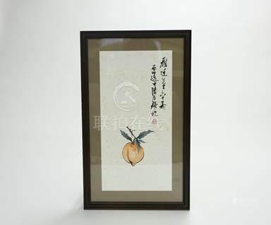 溥儒 壽桃 框