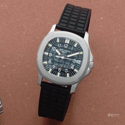 Patek Philippe. A stainless steel automatic calendar wristwatch  Aquanaut, Ref: 5066A-001, Sold 9th January 1999