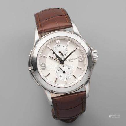 Patek Philippe. A fine 18K white gold manual wind dual time wristwatch Ref: 5134, Sold 3rd January 2008