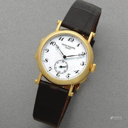 Patek Philippe. An 18K gold Limited Edition manual wind wristwatch  Officier 'Anniversary Edition', Ref: 3960, Sold 8th November 1989