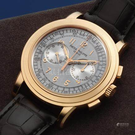 Patek Philippe. A fine 18K rose gold manual wind chronograph wristwatch Ref: 5070R, 27th April 2006