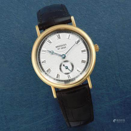 Breguet. An 18K gold manual wind wristwatch  Classique, Ref: 3910BA/15/984, Sold 24th May 2001