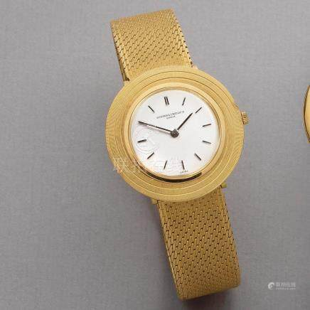 "Vacheron & Constantin. An 18K gold ultra thin manual wind bracelet watch  ""Disco Volante"", Ref: 6508, Manufactured in 1965"