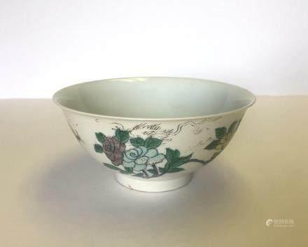 Chinese SU SAN CAI Colors Porcelain Bowl