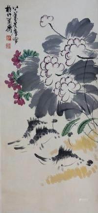 Chinese Scroll Painting,Xu Linlu(1916-2011)