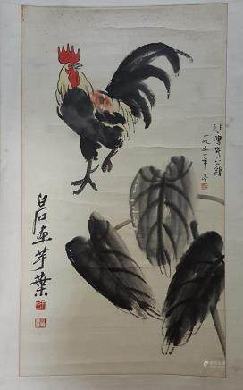 Chinese Scroll Painting,Qi Baishi&Xu Beihong