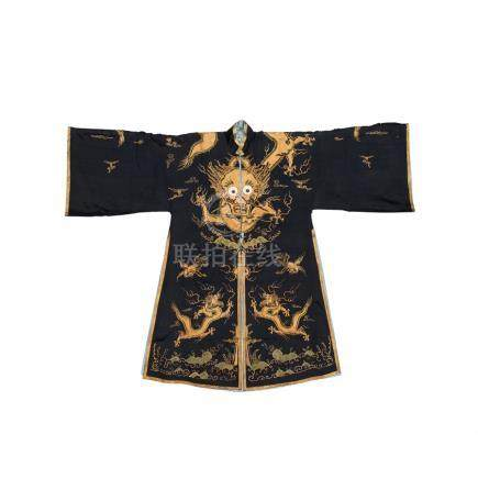 A black silk robe