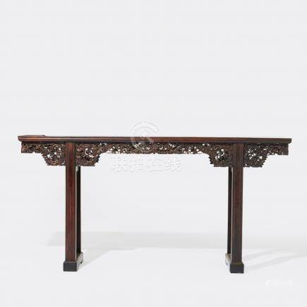 A Chinese hardwood sidetable