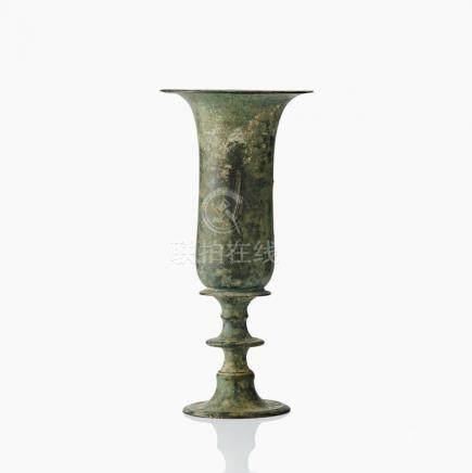 A bronze goblet