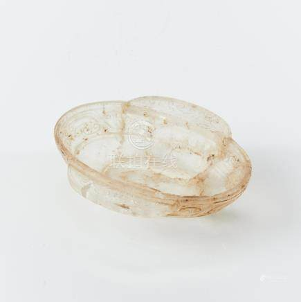 An unusual rock crystal ear-cup