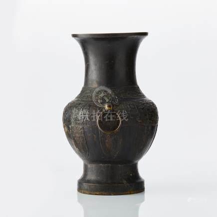 An archaistic bronze vase