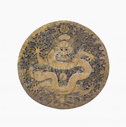 A fine and rare imperial dragon roundel