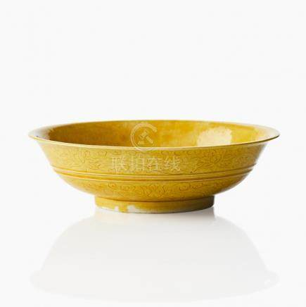 A yellow monochrome bowl