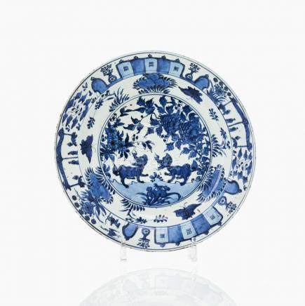 A rare blue and white dish for the Portuguese market