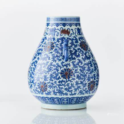 An imposing Ming-style hu-shaped vase