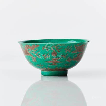 A green ground dragon bowl