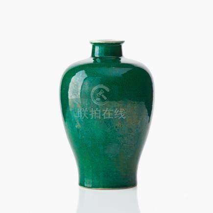 A Chinese green glaze meiping