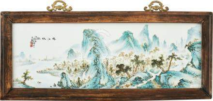 A porcelain plaque attributed to Wang Yeting